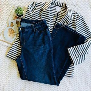Plus Size a.n.a Bootcut Dark Denim Jeans